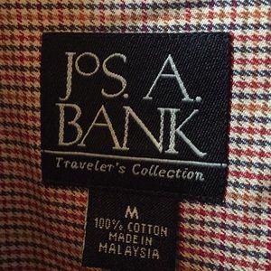 Jos A Bank small checkered print shirt size medium